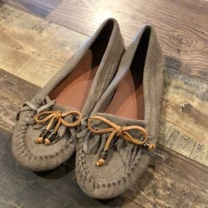 Lucky Brand Aunee Brown Suede Moccasins Flats 9 39